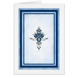 Blue Curly Cue Card