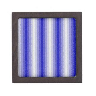 Blue Curly Stripes Jewelry Box