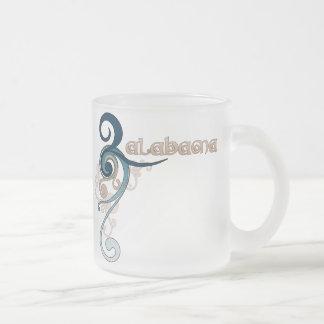 Blue Curly Swirl Alabama Mug Glass