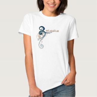 Blue Curly Swirl Alaska T-Shirt