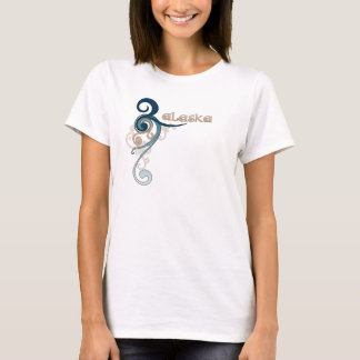 Blue Curly Swirl Alaska T-Shirt