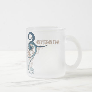 Blue Curly Swirl Arizona Mug Glass