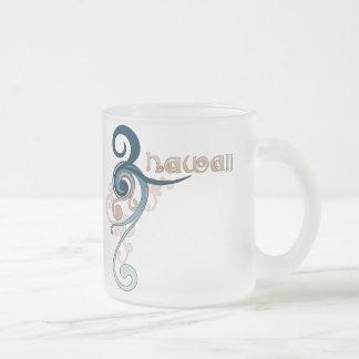 Blue Curly Swirl Hawaii Mug Glass