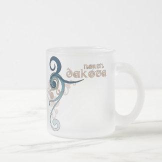 Blue Curly Swirl North Dakota Mug Glass