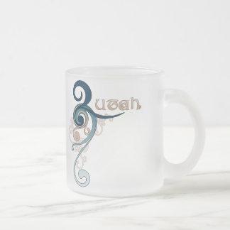 Blue Curly Swirl Utah Mug Glass