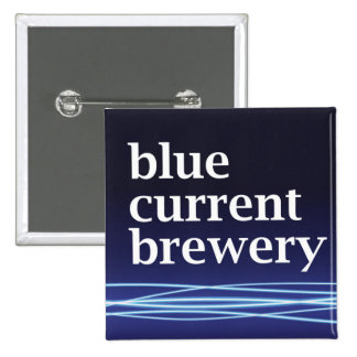 Blue Current Brewery - Square Button