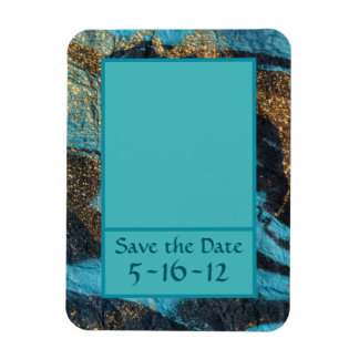 Blue Currents Save-the-Date Photo Magnet