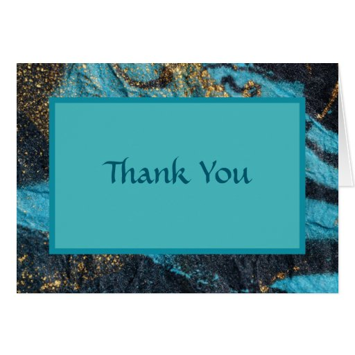 Blue Currents Thank You Card