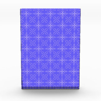 Blue curved line pattern acrylic award