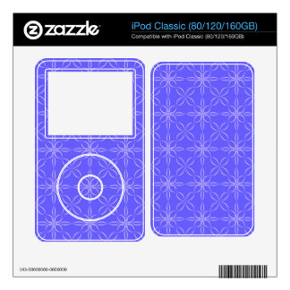 Blue curved line pattern iPod decals