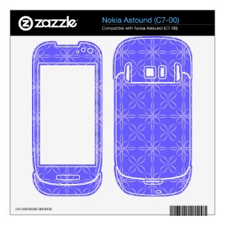 Blue curved line pattern decals for nokia astound