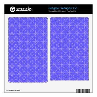 Blue curved line pattern FreeAgent go skins