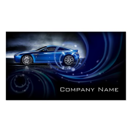 Blue Swirls Automotive Business Card Template