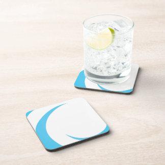 Blue Curves Design Beverage Coaster