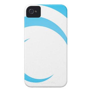Blue Curves Design Case-Mate iPhone 4 Case