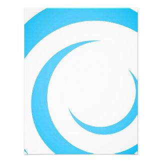 Blue Curves Design Personalized Invite