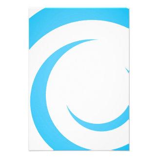 Blue Curves Design Custom Invitation