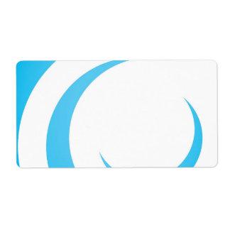 Blue Curves Design Custom Shipping Label
