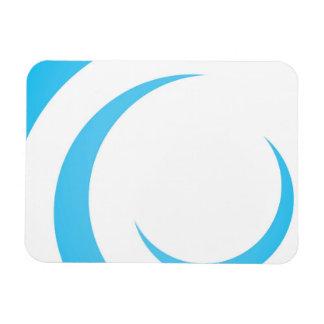 Blue Curves Design Magnet