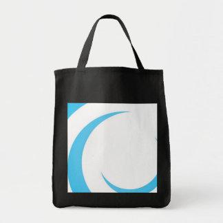 Blue Curves Design Tote Bag