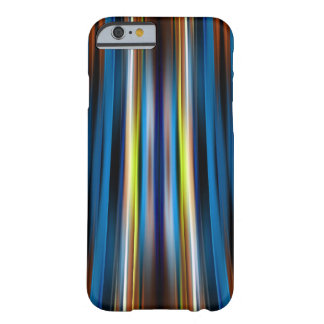 Blue curving lines pattern barely there iPhone 6 case