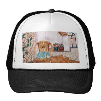 Blue Cushion on Chair Trucker Hat