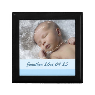 Blue Custom Baby Photo Keepsake Giftbox Keepsake Box