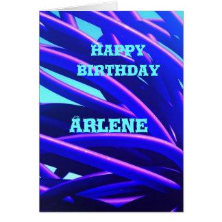 Blue custom Birthday Card ~ Arlene