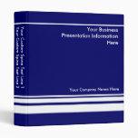 Blue Custom Business Presentation Binder 3 Ring Binders