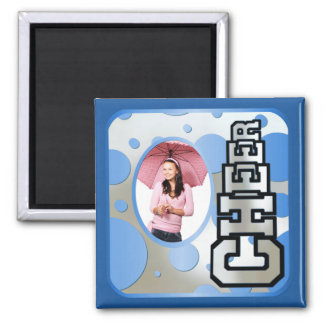 Blue Custom Cheerleader Photo Magnet