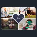"Blue Custom Family Photo Collage 4x6 Magnet<br><div class=""desc"">Create a beautiful photo magnet for the grandparents. Size 3"" x 4"" available from our Photo Gifts collection.</div>"