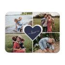 Blue Custom Family Photo Collage Magnet