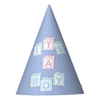 Blue Custom It's a Boy Blocks Baby Shower Hats
