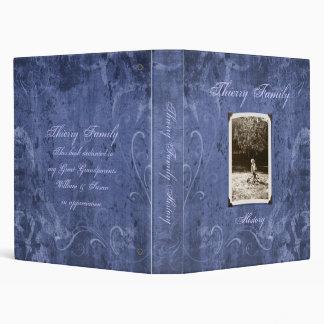 "Blue Custom Photo Family History (1"") Binder"