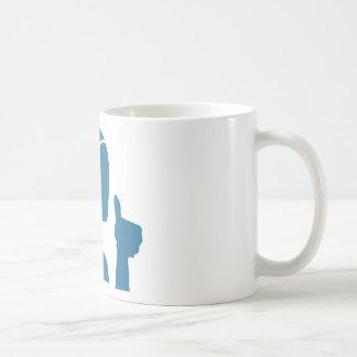 Blue Customer Service Sales Representative Icon Coffee Mug