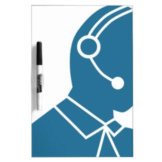 Blue Customer Service Sales Representative Icon Dry Erase Board