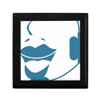 Blue Customer Service Sales Representative Icon Gift Box