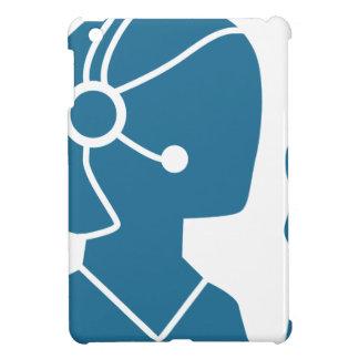 Blue Customer Service Sales Representative Icon Case For The iPad Mini
