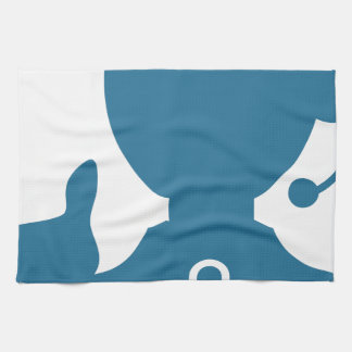 Blue Customer Service Sales Representative Icon Hand Towel