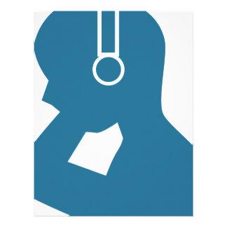 Blue Customer Service Sales Representative Icon Letterhead