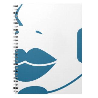 Blue Customer Service Sales Representative Icon Spiral Notebook