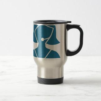 Blue Customer Service Sales Representative Icon Travel Mug