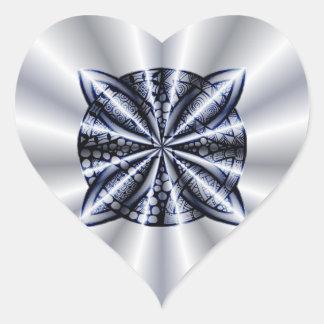 Blue Customizable Celtic Knot Original Art Heart Stickers