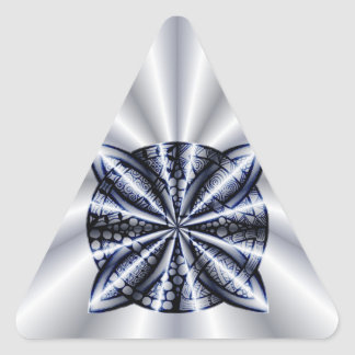 Blue Customizable Celtic Knot Original Art Triangle Stickers