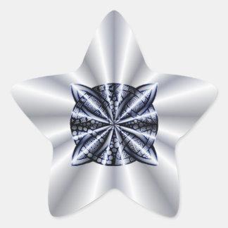 Blue Customizable Celtic Knot Original Art Star Stickers