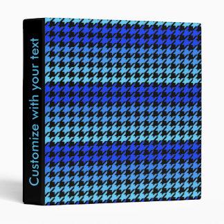 Blue customizable houndstooth pattern binder