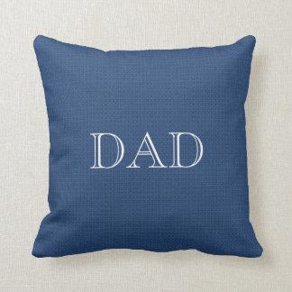 Blue Customizable Throw Pillow