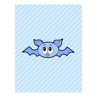 Blue Cute Bat. Postcard