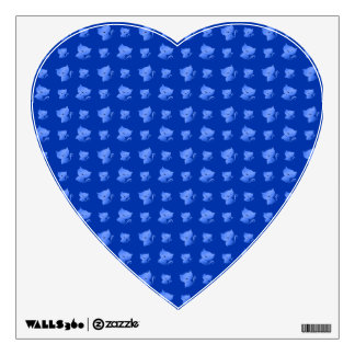 blue cute cat pattern wall graphics