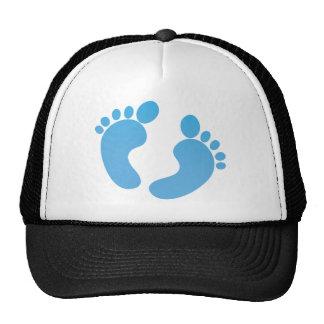 Blue cute feet maternity trucker hat